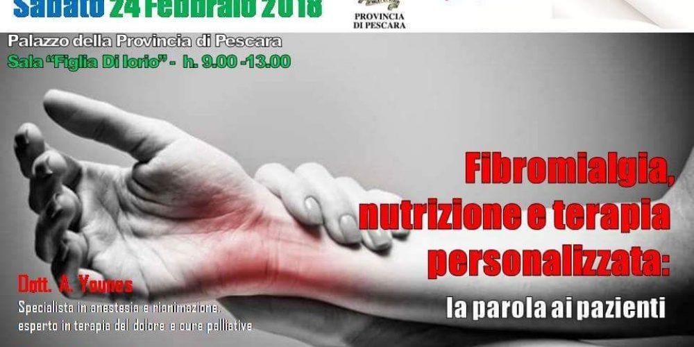 Fibromialgia, nutrizione e terapia: convegno a Pescara
