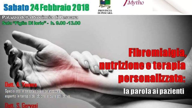 Fibromyalgia, nutrition and therapy: conference in Pescara